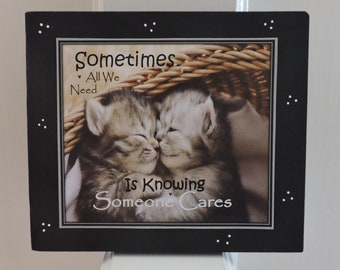 Sometimes All We Need Is Knowing Someone Cares   Rehab Support Gift   Rehab Sign   Sobriety Gift   Substance Abuse   Recovery Gift