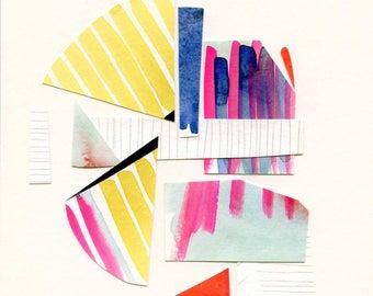 Oktober Serie Nr. 4 - Original-Aquarell Collage von Lindsay Gardner
