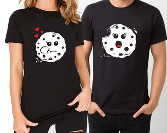 Cookie want to eat you couple matching funny t-shirt set, Pärchen couple, wedding, honey moon, boyfriend, anniversary gift