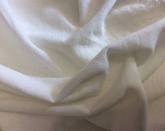 Cotton fabric green white gauze, width 1 m 10