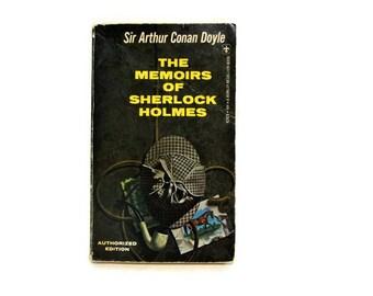 Vintage Book/ Sherlock Holmes/ The Memoirs of Sherlock Holmes/ Sir Arthur Conan Doyle/ Thirteenth Printing/ 1963/ 1960's/ Mid Century Book