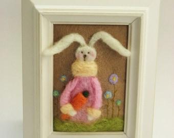 Easter Bunny - Spring Bunny - Easter Decor - Spring Decor - Felted Bunny