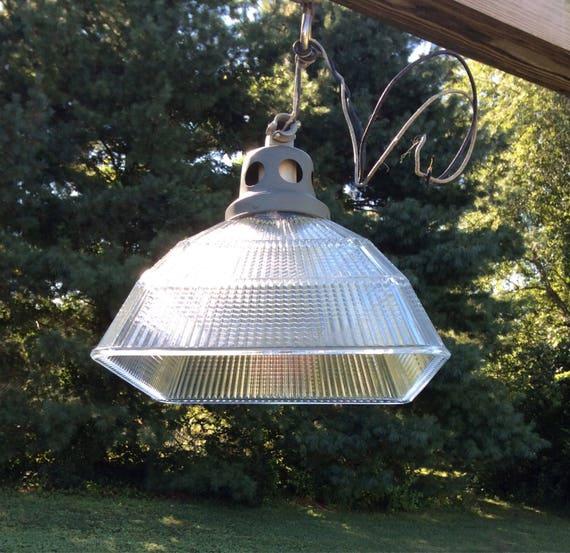 & Vintage Holophane Light Vintage Holophane Pendant Light