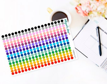 Rainbow Dots - Planner Stickers REFORMATTED