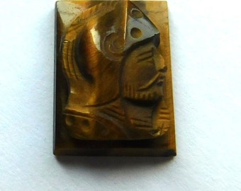 Hardstone Tigereye Cameo of a Roman Soldier