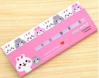 Sticky Notes / Cute Stationery / Bunny Stationery / Rabbit Stationery / Sticky Tabs / Office Supplies / Cute Stickys / Kawaii Stationery