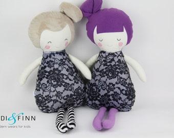NEW Pillow dolls LACE keepsake gift OOAK ready to ship