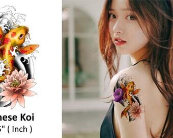 Japanese Koi Fish - Temporary Tattoo