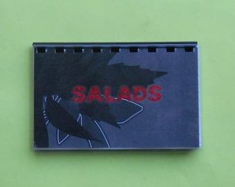 """SALE ITEM Handmade """"Salads"""" Blank Recipe Book"""