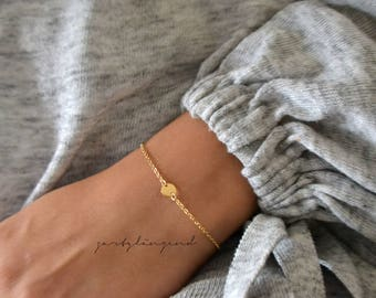 """Gold filled bracelet with round plate """"XS"""""""