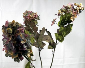 Silk Flowers Burgundy Larkspur Floral Supplies 3 Stems
