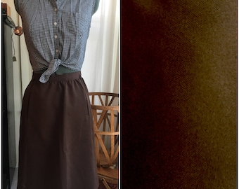 Brownie Batter High Waisted Skirt