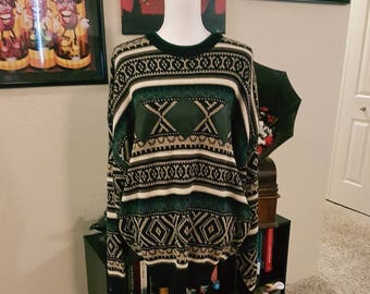 NWT Vintage Impact Sweater with Genuine Leather