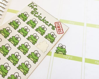 32 Frog Stickers!! Decorate your Erin Condren, Plum Paper, Filofax and other planners. Stay organized with Life Stickers.