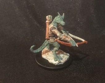 Kobold green bow hand-painted miniature