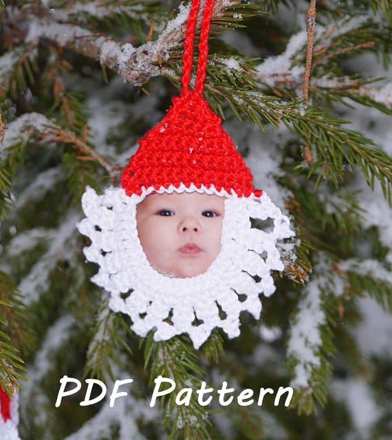 Santa crochet pattern Christmas ornament Santa applique