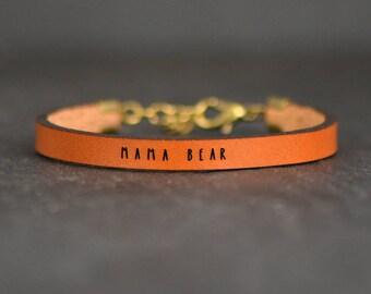 mom friends bracelet | mama bear bracelet | natural gift for mom | pregnancy gift | baby shower gift | adoption bracelet | mama bear jewelry