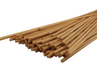 "100 ct 1/8"" x 12"" Thin Wooden Sticks for Crafts 