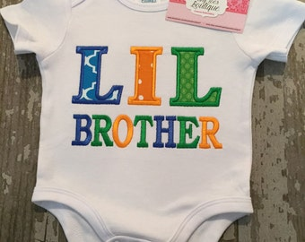 Lil Brother Appliqued Shirt