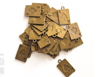 20 card - bronze charms