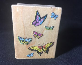 Flutter of Butterflies Rubber Stamp - Used - View all Photos