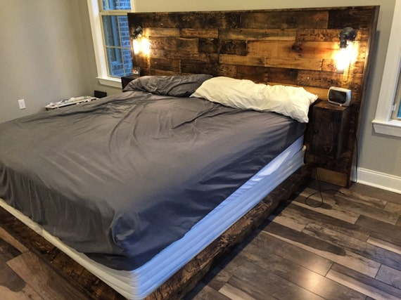 Rustic Headboard Reclaim Industrial Distressed Kind
