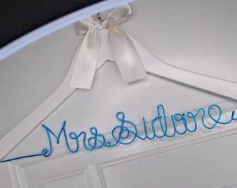 Unique Bridesmaid Gift, Personalized Wedding Hanger, Bridal Hanger, Gift for Bridal Party, Lace Wedding Dress, Low-Back Wedding Dress Hanger