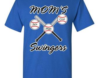 Custom Baseball Mom Shirt, Mom's Swingers Shirt, Mothers Day Gift