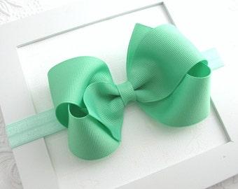 Baby Headband, Mint Green Bow Headband, Baby Bow Headband, Infant Headband, Mint Hair Bow, Bow Headband, Newborn Headband