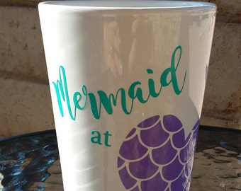 Mermaid Heart Mug, Coffee Mug, Mermaid Lover, Mermaid Coffee Mug, Mug-Mug