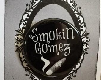 Addams Family Inspired Pin, Button, Pinback, goth, dark, horror, Gomez