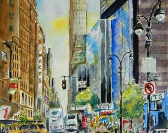 New York City Street - archival giclee art print