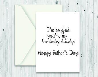 Card from the dog, card from dog, from the dog card, from the dog card, fur baby, fathers day dog card, from pet card, happy fathers day