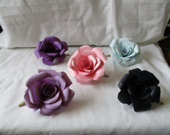 Handcrafted Layered Paper Rose Hair Clip
