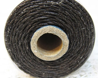 Dark Chocolate Brown Waxed Linen Cord 4 ply 10 yards for Macrame Kumihimo Knotting