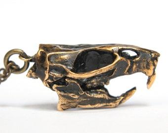 SALE - Rat Skull Necklace Bronze Rat Skull Pendant Necklace Rat Skull Jewelry 082