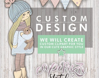 Custom Design, Custom Clipart, Custom Clip Art, Personalized Clipart, Custom Illustration, Custom Graphic Design, Custom Art, Custom Kawaii
