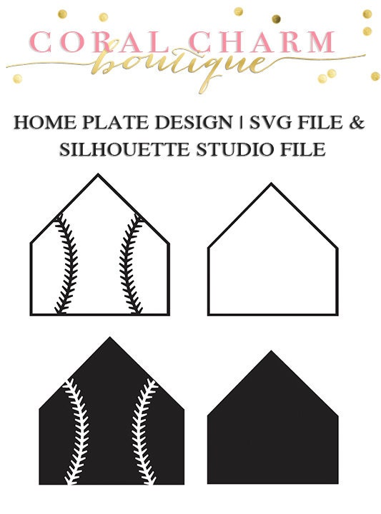 Home Plate File for Cutting Machines SVG and Silhouette