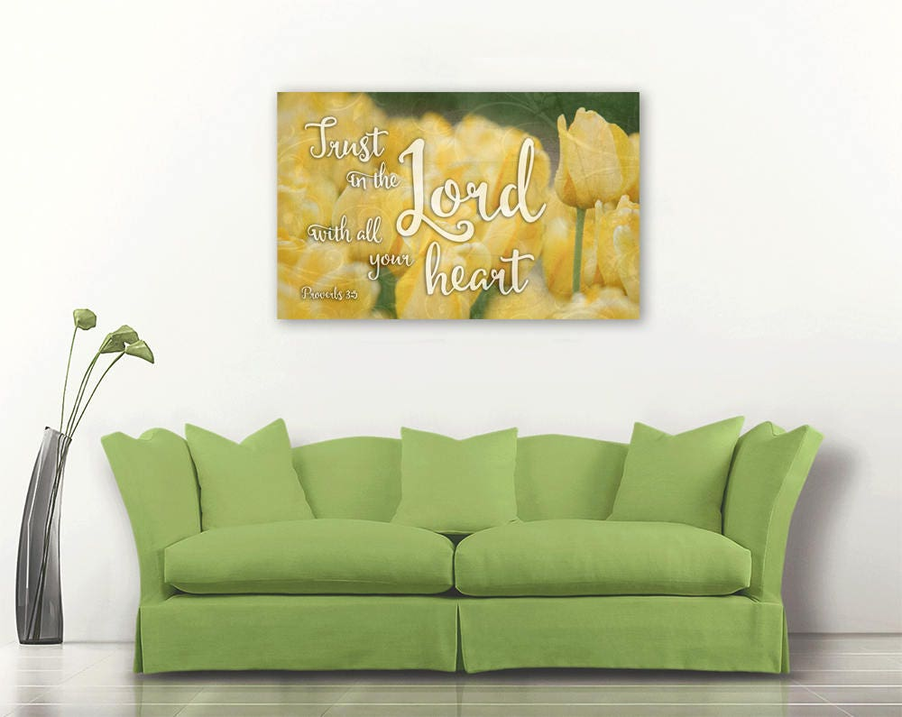 Trust in the Lord Bible verse on canvas Bible verse art