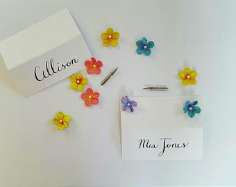 Handwritten Calligraphy Name Place Cards
