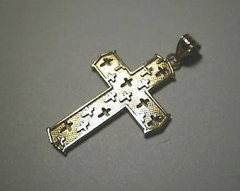 Cross 14K Yellow Gold Crosses in the Cross design 2 sided design
