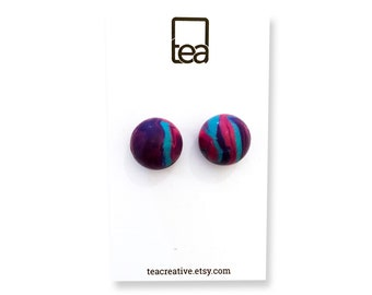 MARBLES | Polymer Clay Stud Earrings