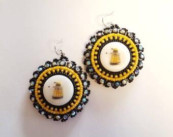 Beaded Dalek Earrings