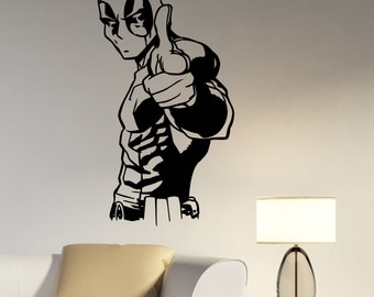 Deadpool Wall Decal Vinyl Sticker Marvel Comics Superhero Art Decorations for Home Living Room Bedroom Kids Boys Room Decor dpl1