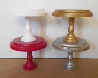 5 Inch Wood Stand / Small Pedestal / Wood Pedestal / Mini Plant Stand / Candle Holder / Large Cupcake Stand / White Wood Stand
