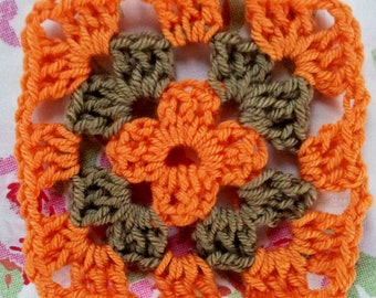 Beginners Crochet Kit - Granny Squares - Crocheting Kit, Starter Kit, DIY Crafts, Yarn, Tools & Guide, Learn to Crochet, Crafting Gift