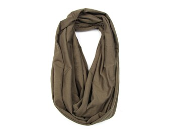 Mens Scarf, Infinity Scarf, Military Green Scarf, Scarves for Men, Green Scarf, Husband Gift, Gift for Husband, Gift for Boyfriend, Mens