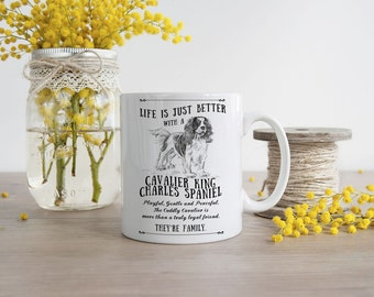 Cavalier King Charles Spaniel Mug ~ Perfect Gift can be personalised
