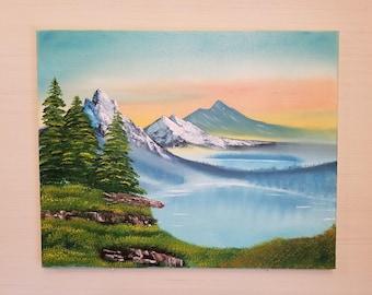 Sunset Art titled Twin Lakes