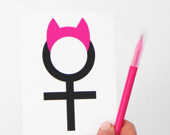 Women's March Cards, Feminist Postcards